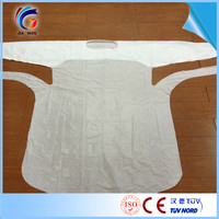 Free sample Disposable medical surgical cheap disposable cpe protective gown work cpe uniforms with CE certificate