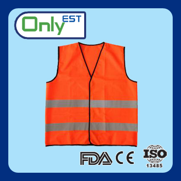 High visibility 120g knitted fabric motorcycle reflective vest for Europe market