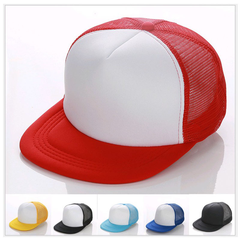 Flat Brim Cap Blank Candy color baseball hats <strong>Customized</strong> Net caps Hip Hop LOGO printing Adult hats Casual Peaked hat