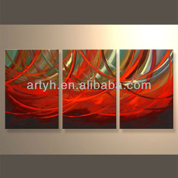 newest handmade multi piece oil wall art painting for house