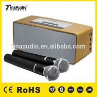 two microphone portable bluetooth speaker