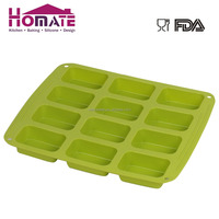 Silicone 12-cup rectangle cake mould,silicone rectangle soap mould
