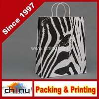 "Chevron Paper Gift Bags Shopping Sales Tote Bags 6"" x 9"" Shimmering Silver Zig Zag Design-Caddy Bay Collection(220034)"