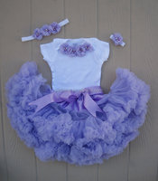 Baby clothes wholesale price baby girl pettiskirt baby vest and pettiskirt with headband set girl pettiskirt set