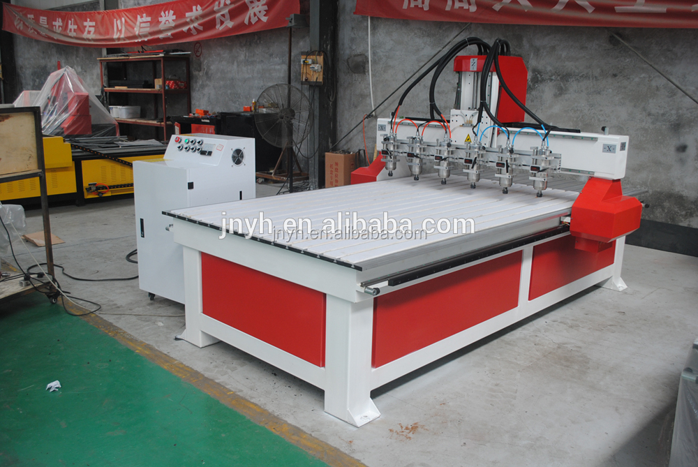 Hot sale 2d/3d cnc router with multi spindle motor multi heads