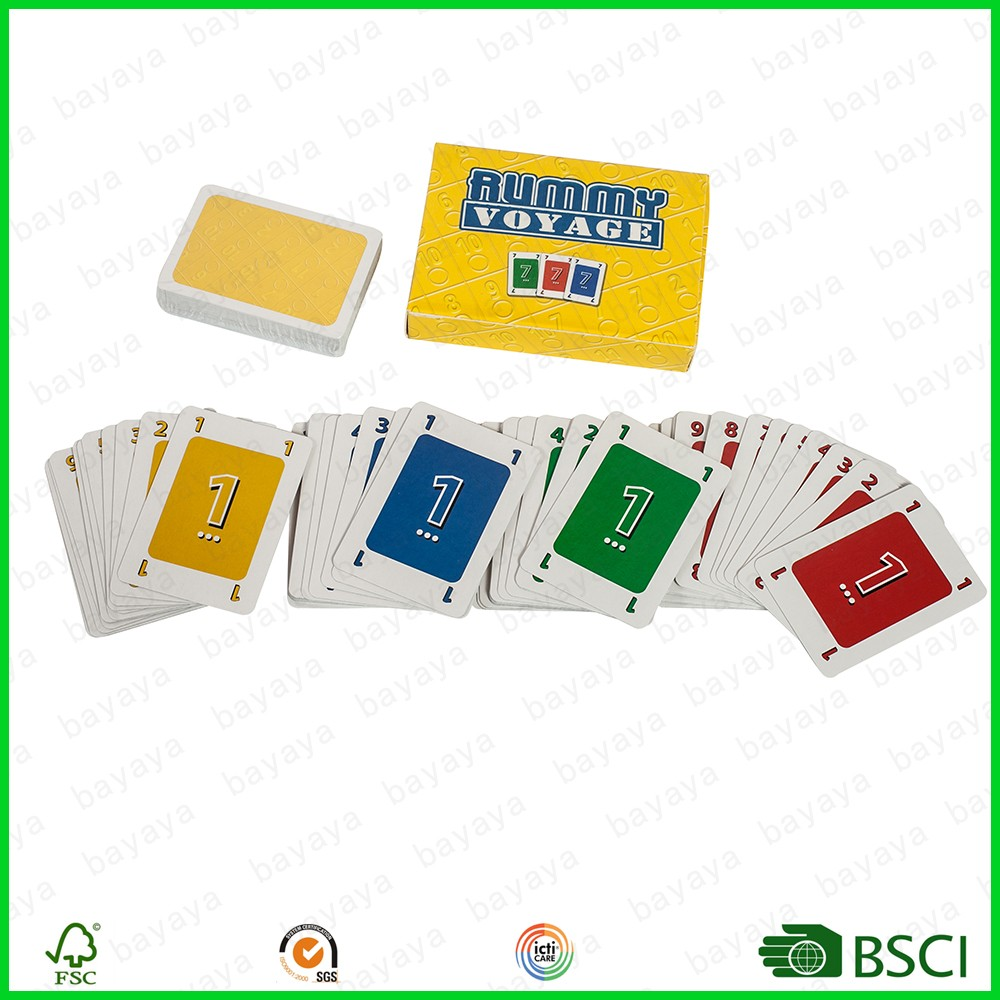 Washable poker plastic playing card