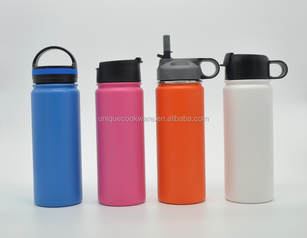 Wide Mouth Stainless Steel Insulated Water Bottle Flip Lid