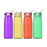 MY-02 New Cycling Bike Bicycle Sports 800ml Plastic Water Bottle + Dust Cover lip