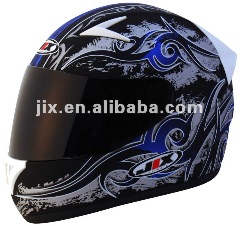 DOT/ECE full face motorcycle Helmets JX-A5010 with double visors