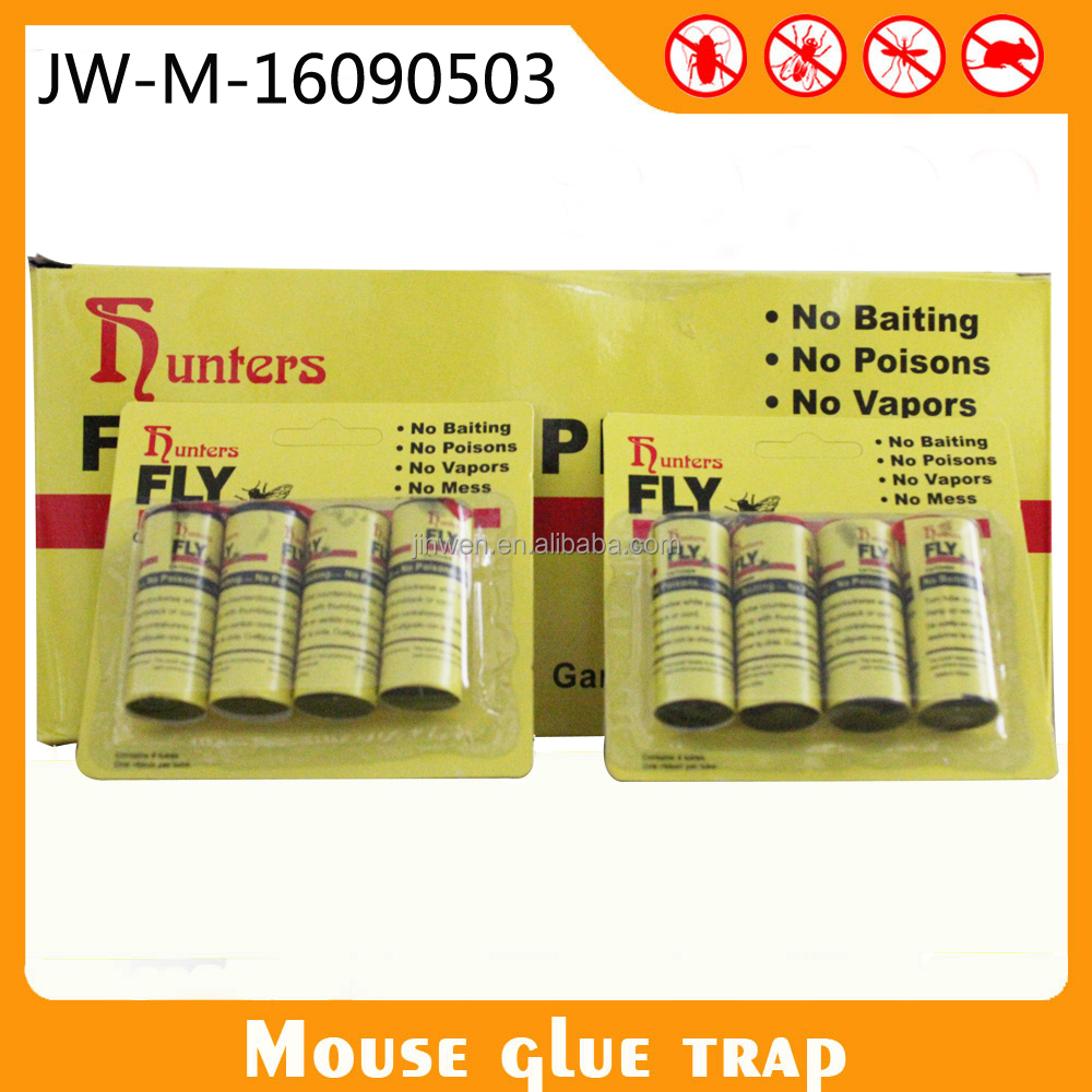 With Glue 4 Rolls Fly Glue Trap Ribbon Sticky Hanging Roll Fly Catcher