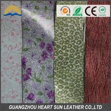 Heart Sun pu glitter leather thong for necklaces made in china