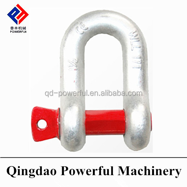 G210 US TYPE DROP FORGED SCREW PIN ANCHOR DEE SHACKLE