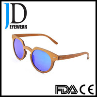 Hot Sell Sky Blue Cat Eye Sunglasses factory manufacture Wood Bamboo Sunglasses in China