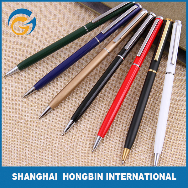 Colorful Twist Metal Fountain Ball Pen Slim with Logo