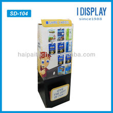 Game card paper sidekick display for store retail