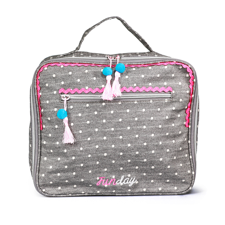 Hot high quality travel tote knitted cosmetic case
