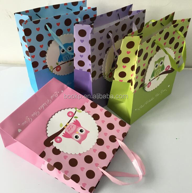 foldable fancy shopping bag packaging paper