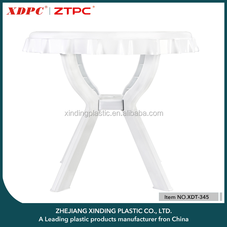 Chinese Supplier Customized Color Plastic Garden table