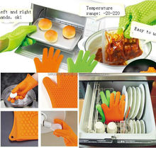 Kitchen silicone finger protector mitt for Baking Cooking Barbeque