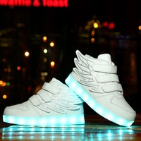 Factory Price hot selling Style Colorful USB 7 Light Color Luminous led kids shoes