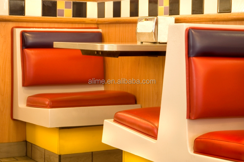 Alime fixed booth seating fast food restaurant furniture