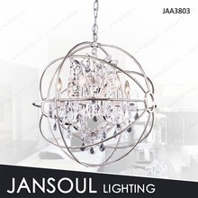 New design Hotel deco pendant light exotic orb crystal chandelier