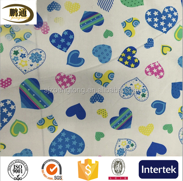 100% Cotton twill printed fabric cute lovely girls design for lady girls high quality shirt garments