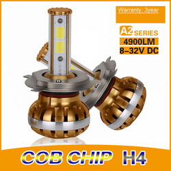 Superbright 90W 9000LM (4500 Lumen Each Bulb) NEW Upgrade LED Headlight to Replace V16 Headlight Bulb h4 US $57.45-59.45 / Set