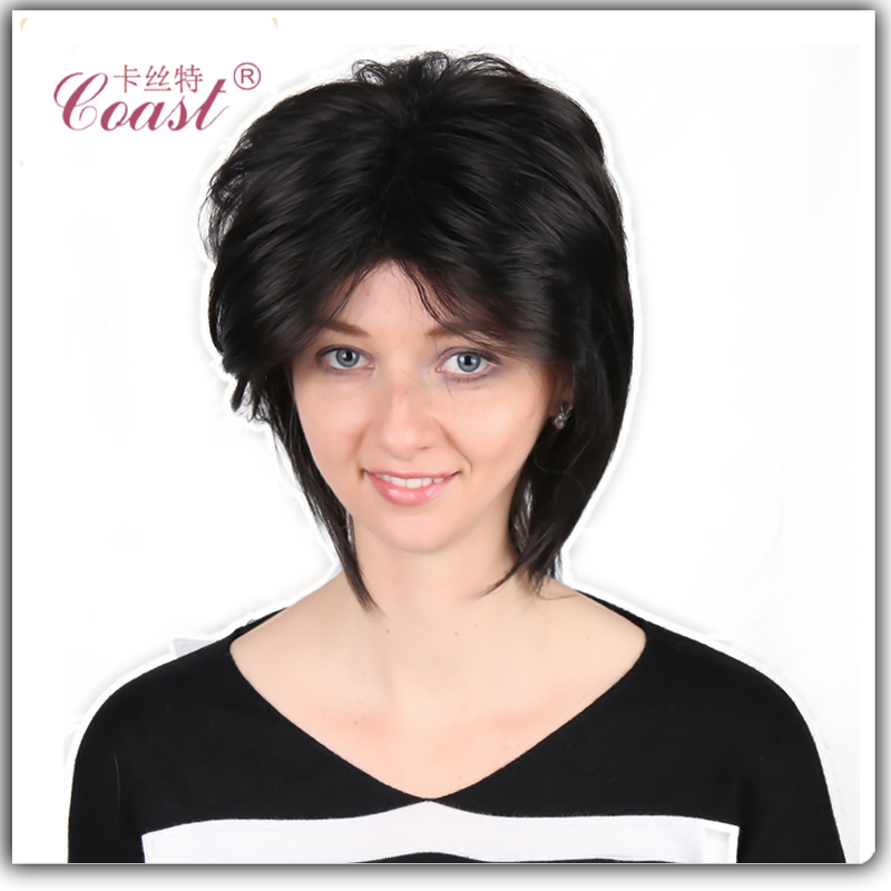 wholesale black synthetic short curly wigs for black women