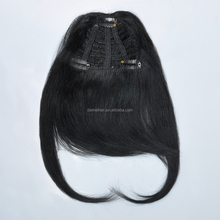 Remy Fring/bang 100% Human Hair Extensions #01, USA Stock 3-5 days USPS Shipping