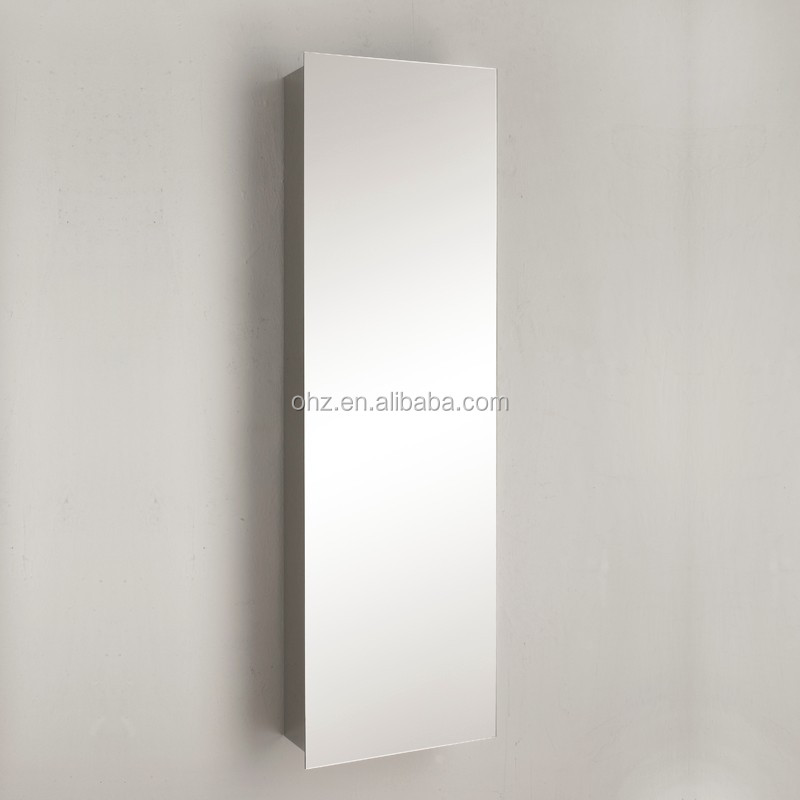 stainless steel 304 tall bathroom cabinet with toothbrush holder 7058