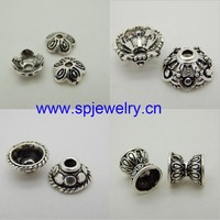 925 silver bead caps for jewelry making, wholesale silver jewelry findings