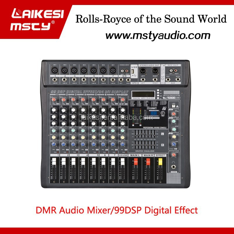 DMR806S 8-channel mixer audio console of LAIKESI the latest version