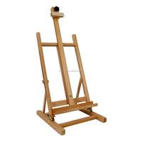 Bamboo Tabletop Adjustable H-Frame Wood Studio Artist Easel