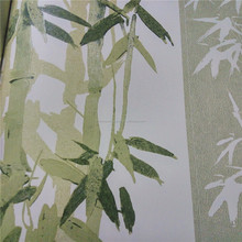 Bamboo green PVC wallpaper