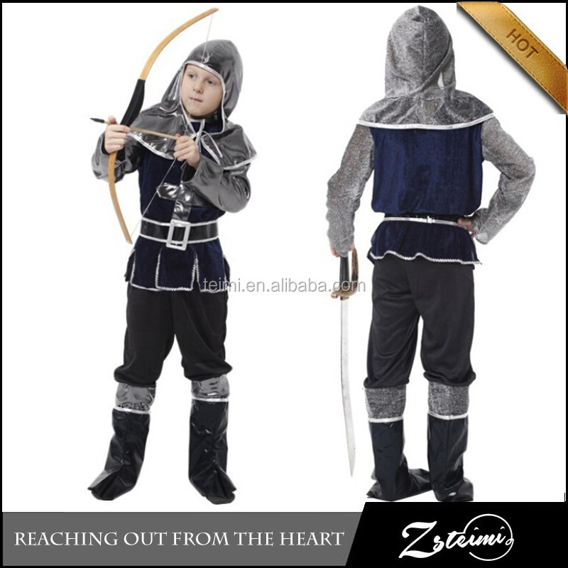 Hot Selling Halloween Costume Children Kids Roman Soldier Costume Party