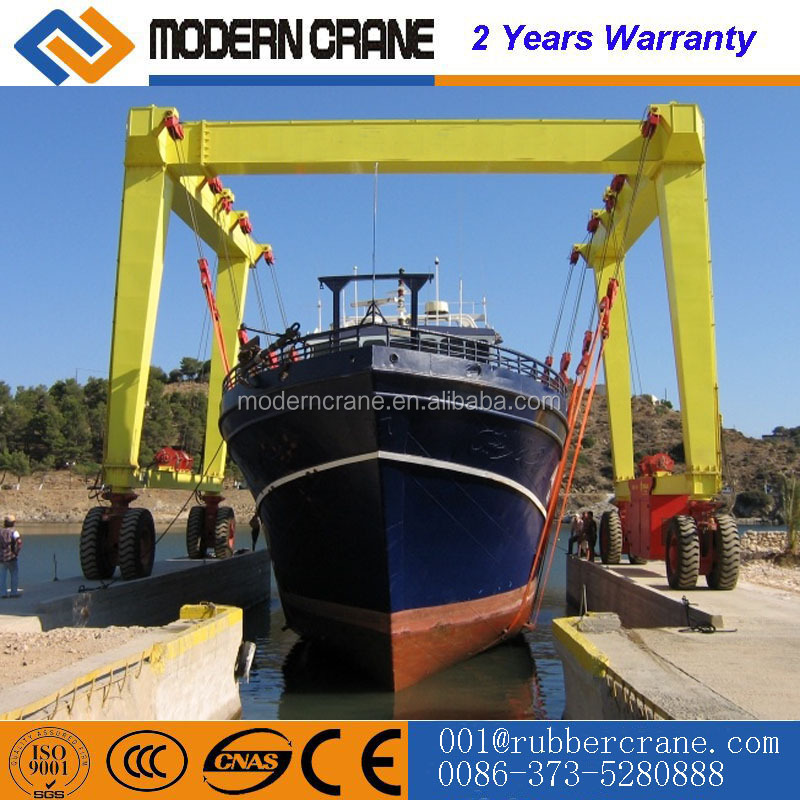 H30 Marine Travel Lift 30 Ton Gantry Straddle Boat Hoist Gantry Crane