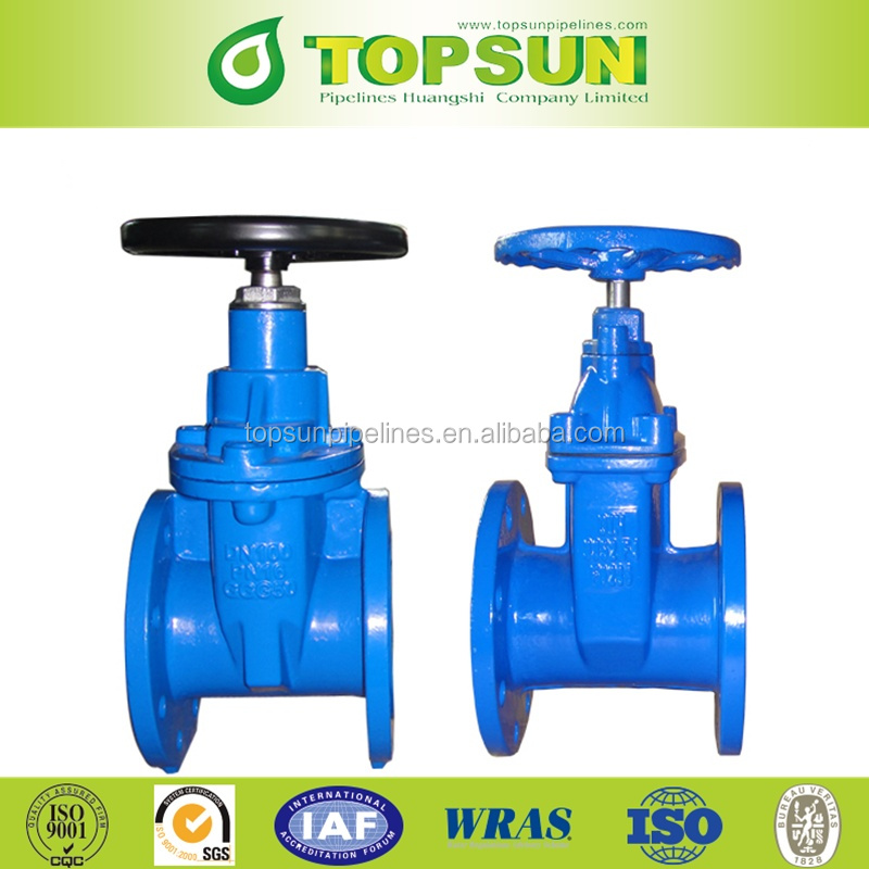 DN50-DN300 non rising stem resilient soft seated gate valve DIN3352 PN10/16
