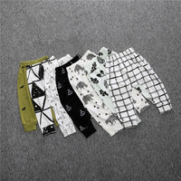 Newborn Baby Harem Pants Toddler Boy Print Cotton Trousers Leggings