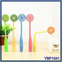 stationery products and low price lollipop ball pen mould folding ballpoint pen