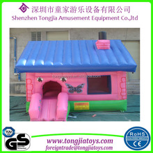 high quality level mini inflatable jumping house butterfly beauty games for girls
