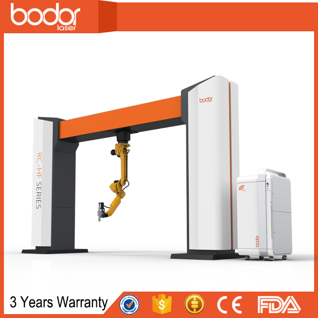 oversea engineer service and 3 years warranty cheap price hot sale 6 axis 3D metal fiber laser cutting robot