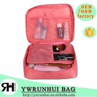 New Trendy travel toiletry organizer bag, lovely hot pink cosmetic pounch for women
