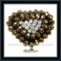 Glass Beads Rhinestone Applique Shoe Accessories