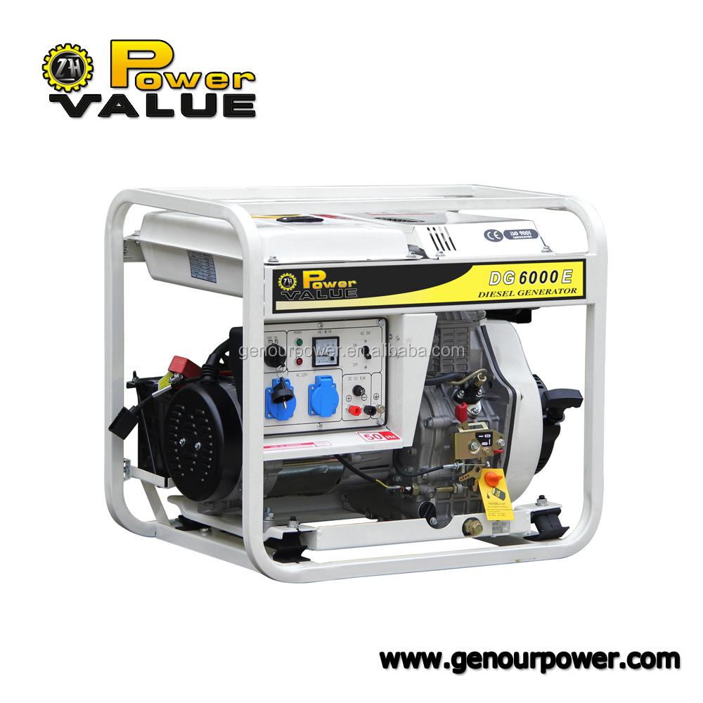 3kva-5kva diesel electric power generator set for sale open type excited magnetic air cooled