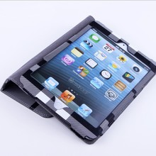 Tricolor mini laptop leather stand case for ipad mini accrssories custom stand leather case
