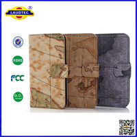 Map Pattern Wallet Case for Samsung S5 mini, Special Stand Leather Case Cover For Samsung Galaxy s5 mini--Laudtec