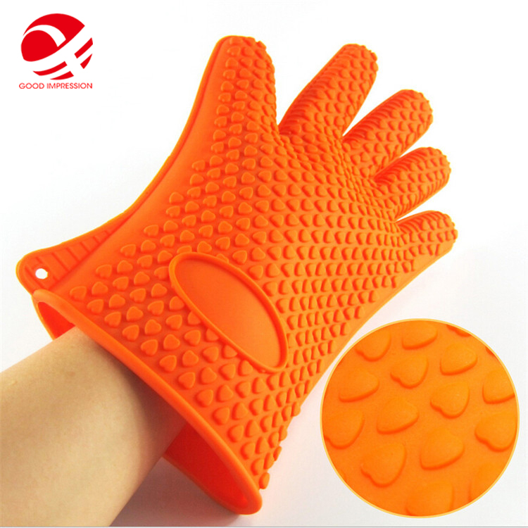 BPA FREE heat resistant silicone colors safety oven mitt kitchen glove cotton