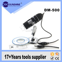 CE certification DM-500 digital microscope 500X with USB / CD driver