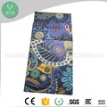 Sublimation Printed eco friendly Foldable Double Sided Plush Yoga Towel